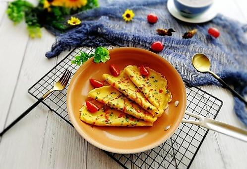 快手早餐+葱花鸡蛋饼的做法