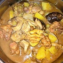鸡肉炖蘑菇土豆