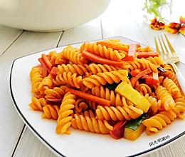 番茄沙司螺旋意面的做法