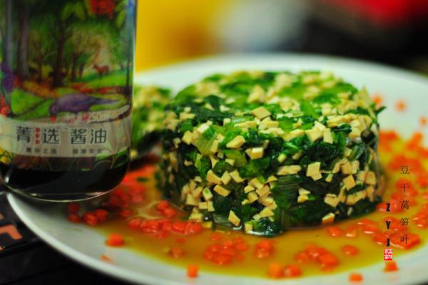 #菁选酱油试用之豆干莴笋叶#的做法