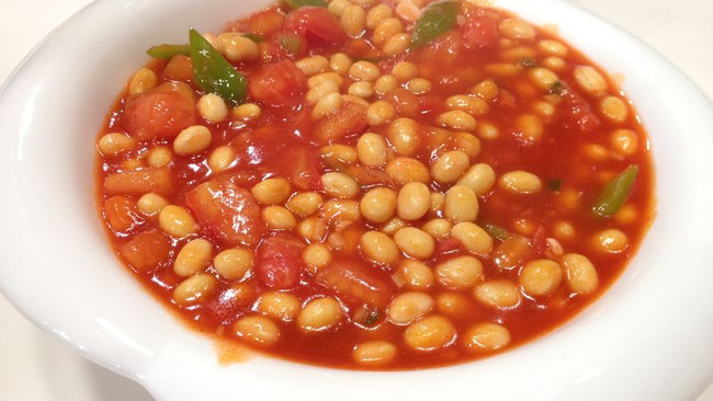 番茄烩黄豆的做法