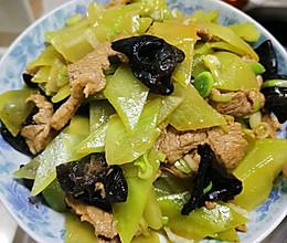 春天的味蕾—莴笋木耳炒肉片的做法