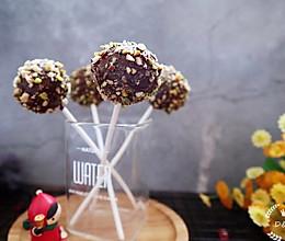 巧克力坚果棒棒糖蛋糕的做法