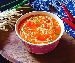 茄汁金针菇汤的做法