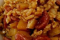 广式香肠焖饭的做法