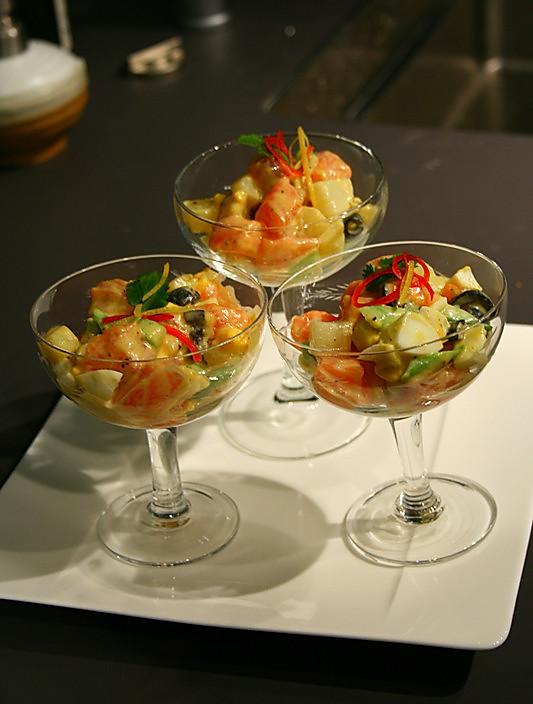 五彩三文鱼沙拉的做法