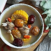 红枣玉栗鸡汤