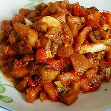 西红柿炒茄子丁