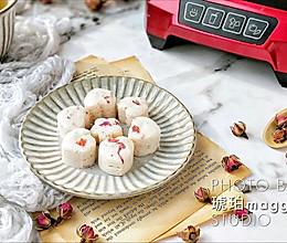 #带着零食去旅行!#心心相印玫瑰山药糯米糕的做法