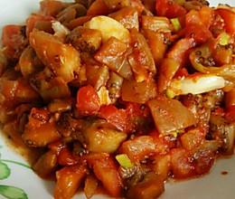 西红柿炒茄子丁的做法