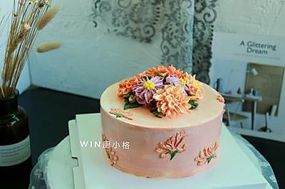 金秋#暖色秋季.奶油蛋糕看过来#