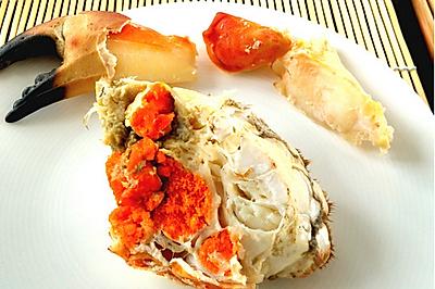 清蒸黄金面包蟹