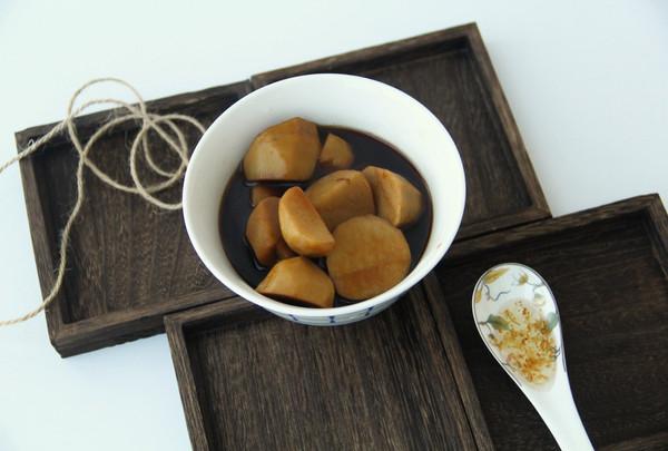 红糖桂花芋艿的做法