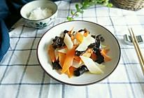 健康快手菜-木耳胡萝卜山药片的做法