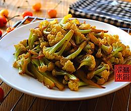 生炒有机花菜#酱香鲜#的做法