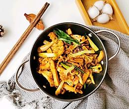 冬日暖暖的干锅花菜的做法