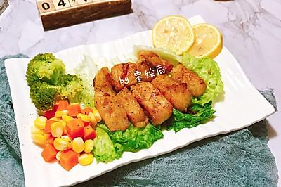 减脂餐:柠檬香煎巴沙鱼