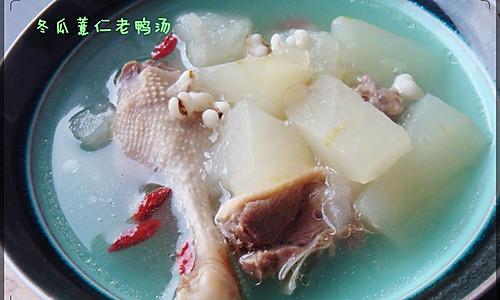 夏天必备 冬瓜薏仁老鸭汤的做法