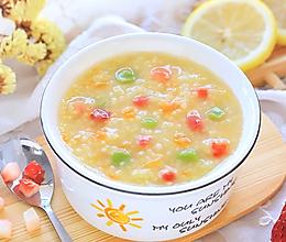 水果小米粥的做法