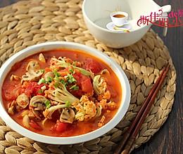 口蘑番茄炒花菜的做法