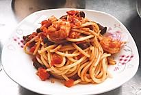 鲜虾意大利面的做法