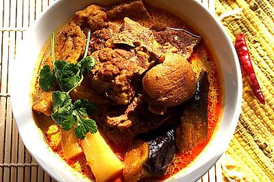 砂锅咖喱羊腿煲