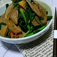 韭菜炒猪肝的做法图解8