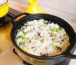 #餐桌上的春日限定#云南人都爱的火腿蚕豆焖饭的做法