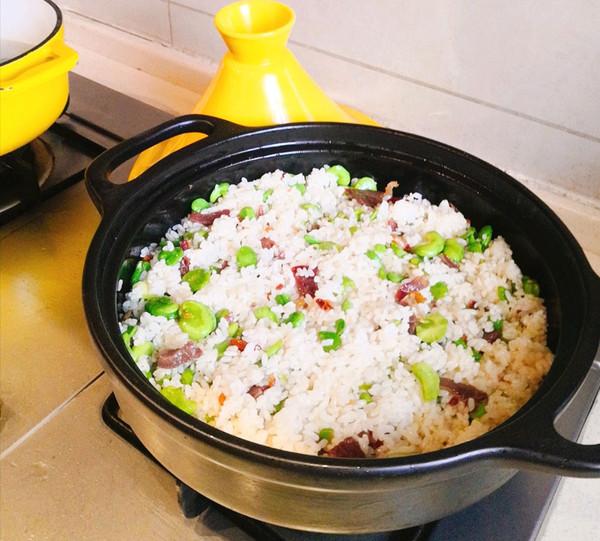 云南人都爱的火腿蚕豆焖饭的做法