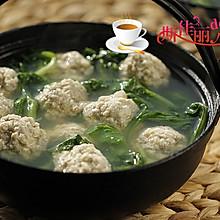 青菜豆腐丸子汤