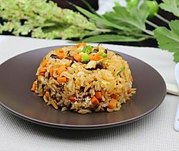 胡萝卜香菇炒饭(少油空气炸锅版)的做法