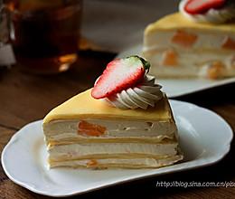款待亲朋的下午茶的好点心~芒果千层蛋糕~的做法