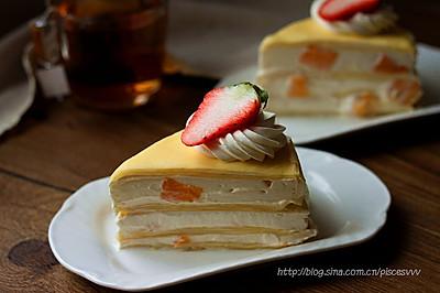 款待亲朋的下午茶的好点心~芒果千层蛋糕~