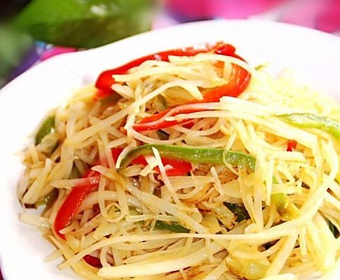 双椒土豆丝的做法