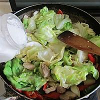 干锅圆白菜的做法图解6