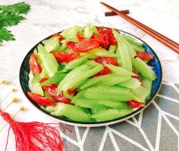 #快手又营养,我家的冬日必备菜品#芹菜炒广腊肠的做法