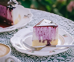 磅蛋糕底现煮蓝莓酱淋面慕斯蛋糕的做法