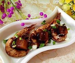 茄汁山药焖海虾的做法