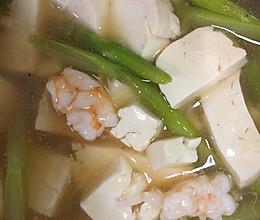 虾仁豆腐芦笋汤的做法