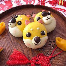 #年味十足的中式面点#柴犬豆沙包
