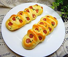 火腿香葱面包的做法