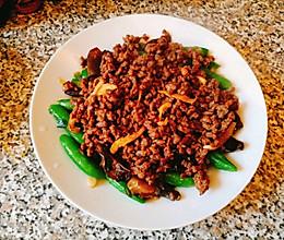 牛肉沫炒豌豆木耳的做法