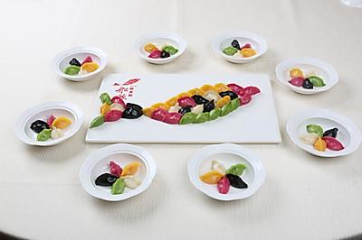 五色海胆饺#金龙鱼专业饺子粉#