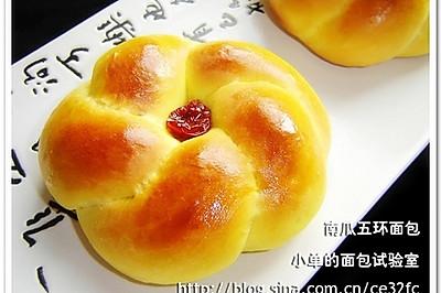 南瓜五环面包