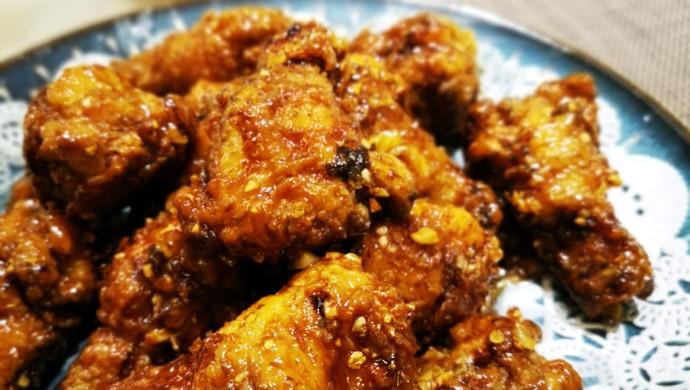 韩式蒜香蜜汁炸鸡