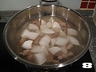 清炖白萝卜牛腩汤的做法图解8