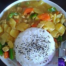 土豆咖喱盖饭