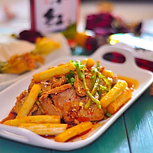白芦笋红油拌猪肉