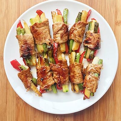 土豆彩蔬肉卷