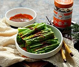 凉拌沙茶油麦菜#舌尖上的春宴#的做法